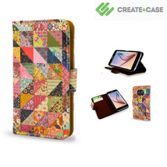 Create and Case Samsung Galaxy S6 Book Case - Grandma's Quilt