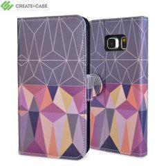 Create and Case Galaxy S6 Tasche im BuchDesign Nordic Combination