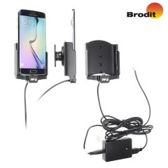 Charge and use your Samsung Galaxy S6 Edge in your vehicle with this Brodit active holder with Molex adapter system and 2A charger.