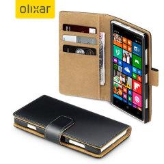 Olixar Leather-Style Nokia Lumia 830 Wallet Case - Black
