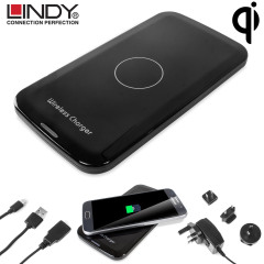 Lindy Qi Wireless Charging Pad with 4 Travel Adapters
