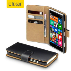 Olixar Leather-Style Microsoft Lumia 640 Wallet Case - Black
