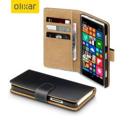 Custodia a portafogli ecopelle Olixar per Microsoft Lumia 640 - Nero