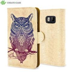 Custodia Create and Case per HTC One M9 - Warrior owl