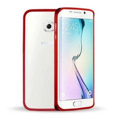 Aluminium Samsung Galaxy S6 Edge Metal Bumper Case Hülle in Rot