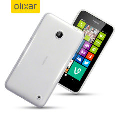 FlexiShield Nokia Lumia 630 / 635 Gel Case - Crystal Clear