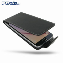 PDair Deluxe Leather Samsung Galaxy S6 Flip Case - Black