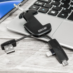 The compact and convenient Lightning & Micro USB Charge & Sync Cable Key is a must have item for smart device owners, allowing you to charge and sync your phones or tablets anywhere. An all-in-one portable package that fits perfectly on your keys.
