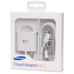A genuine retail boxed Samsung UK adaptive fast mains charger for your Samsung Galaxy S6 / S6 Edge, S6 Edge+, Note 5 and Note 4. This is identical to the charger provided with these phones - EP-TA20UWE.