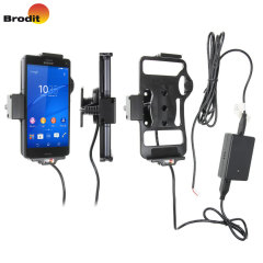 Charge and use your Sony Xperia Z3 Compact in your vehicle with this Brodit active holder with Molex adapter system and 2A charger.