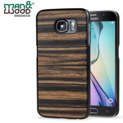 Man&Wood Samsung Galaxy S6 Hölzerne Hülle Ebony