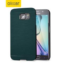 Olixar Aluminium Shell Case Samsung Galaxy S6 Hülle in Slate Blau