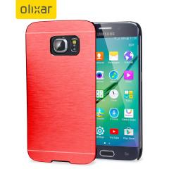 Olixar Aluminium Shell Case Samsung Galaxy S6 Edge Hülle in Rot