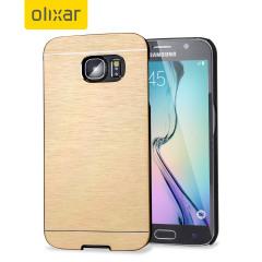 Olixar Aluminium Shell Case Samsung Galaxy S6 Hülle in Gold