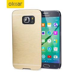 Olixar Aluminium Shell Case Samsung Galaxy S6 Edge Hülle in Gold