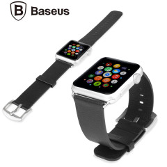 Baseus Apple Watch Premium Leather Strap - 42mm - Zwart