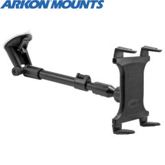 "Designed to work with any tablet between 9"" to 12"", even with a case, the Arkon CM117 is a stable and versatile windscreen mount."