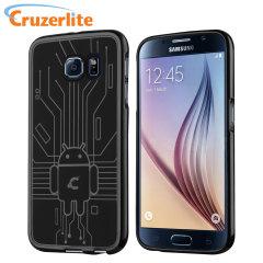 Cruzerlite Bugdroid Circuit Samsung Galaxy S6 Gel Case - Black