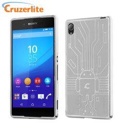 Cruzerlite Bugdroid Circuit Sony Xperia Z3+ Gel Case - Doorzichtig