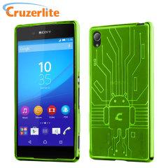 Cruzerlite Bugdroid Circuit für Sony Xperia Z3+ Hülle in Grün