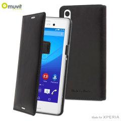 Muvit Slim Sony Xperia M4 Aqua Folio Case - Black