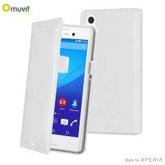 Muvit Slim Sony Xperia M4 Aqua Folio Case - White