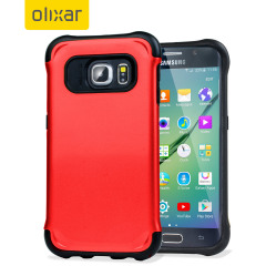 Give your Samsung Galaxy S6 Edge optimum drop protection with this incredibly sleek and impact-resistant ArmourLite case in red from Olixar.