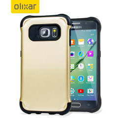 Olixar ArmourLite Samsung Galaxy S6 Edge Hülle in Gold