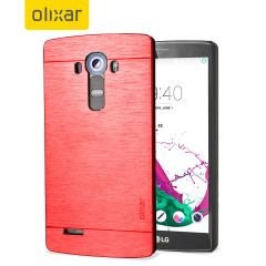 This premium and sophisticated Aluminium series slim, shell case from Olixar in red offers excellent protection for the LG G4, whilst maintaining it's sleek exterior.