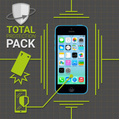 Guard your beautiful iPhone 5C from damage with the Olixar Total Protection Pack. Featuring a slim polycarbonate case and an ultra-response glass screen protector, this pack provides the ultimate in lightweight protection.