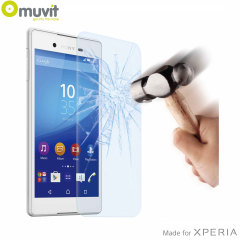 With superb screen protection and rounded edges this premium tempered glass protector from Muvit is the perfect choice for the Sony Xperia Z3+.