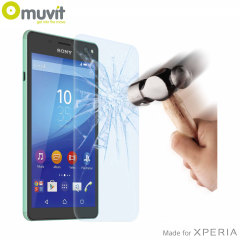 With superb screen protection and rounded edges this premium tempered glass protector from Muvit is the perfect choice for the Sony Xperia C4.