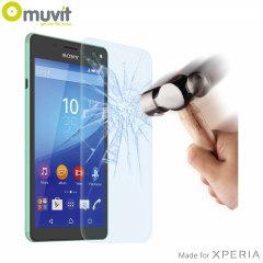 Pellicola protettiva in vetro temperato Muvit per Sony Xperia C4