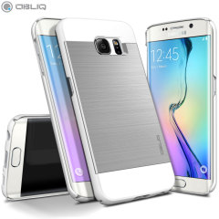 Obliq Slim Meta Samsung Galaxy S6 Edge Case Hülle in Satin Silber