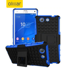 Protect your Sony Xperia A4 from bumps and scrapes with this blue ArmourDillo case. Comprised of an inner TPU case and an outer impact-resistant exoskeleton, with a built-in viewing stand.