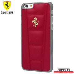 Ferrari 458 Genuine Leather iPhone 6S / 6 Hard Case - Red