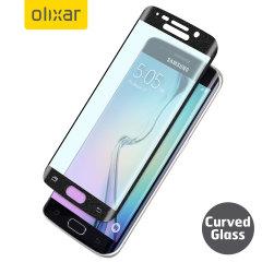 Pellicola protettiva in vetro curvo Olixar per Galaxy S6 Edge - Nero