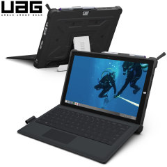 The UAG Scout Rugged Folio Case in black keeps your Microsoft Surface 3 protected with a lightweight, but highly protective honeycomb composite interior, with a tougher outer case, ensuring the perfect combination of style and security.