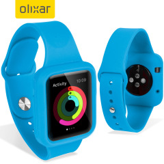 Olixar Soft Silicone Apple Watch 3 / 2 / 1 rem och Skal - 38mm - Blå