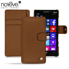 Protect your Nokia Lumia 930 in style with this luxurious hand-crafted, sleek brown leather tradition B case by Noreve.