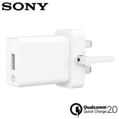 Official Sony UCH10 Qualcomm 2.0 Quick Mains Charger & Cable - White