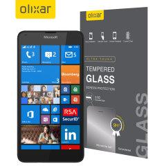 Cet ultra-mince trempé protecteur d'écran de verre pour le Lumia 640 par Microsoft Olixar offre ténacité, une grande visibilité et la sensibilité tout en un paquet.