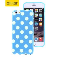 Polka Dot FlexiShield iPhone 6S Plus / 6 Plus Gelskal - Blå