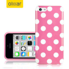Polka Dot FlexiShield iPhone 5C Gel Hülle in Pink