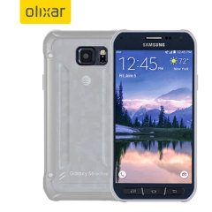 FlexiShield Samsung Galaxy S6 Active Gel Case - Frost White