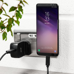 Charge your devices at rapid speed with the USB Mains Fast Charger. Compatible with modern super fast charging standards, you can charge your compatible phone up to 75% faster in over 150 countries around the world with the 4 travel adapters.
