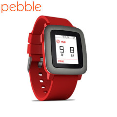 Smartwatch Pebble Time pour appareils iOS & Android  - Rouge