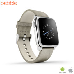 Pebble Time Steel Smartwatch for iOS and Android Devices - Silver
