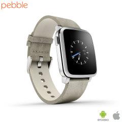 Pebble Time Steel Smartwatch pour Appareils iOS et Android - Argent