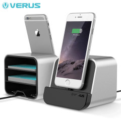 Verus i-Depot Universal Smartphone & Tablet Charging Stand - Silver